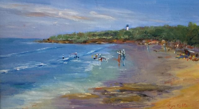 Oil Painting by Lyn Ellis titled Beach at Point Lonsdale