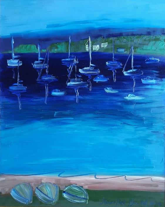 Oil Painting by Jennifer Baird titled Valentine, Lake Macquarie
