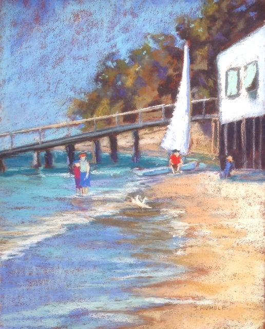 Acrylic Painting by Janette Humble titled At The Yacht Club