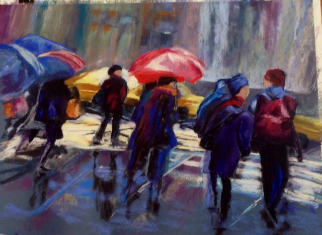 Acrylic Painting by Janette Humble titled Rush Hour