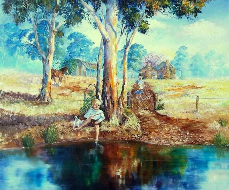 Oil Painting by Ellen Lee Osterfield titled By the Creek
