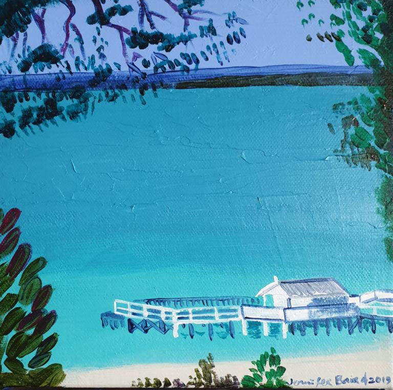 Acrylic Painting by Jennifer Baird titled Peninsula 1