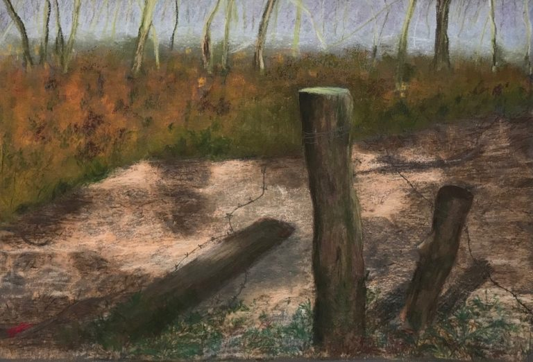 Pastel Painting by Kathleen Bentley titled Relic of Bygone