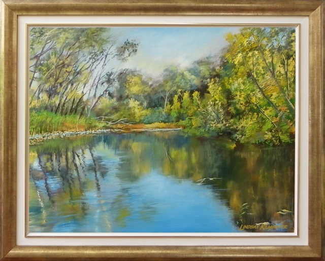 Oil Painting by Lindsay Kilminster titled Autumn Reflections