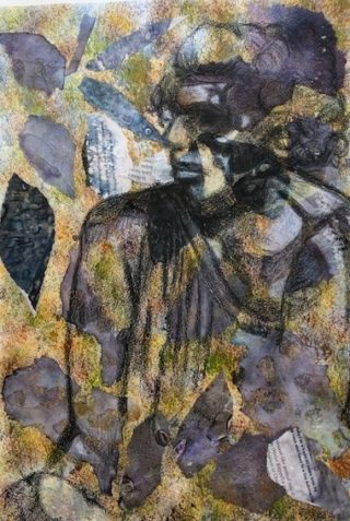 A Mixed Media artwork by Toni Stritzke in the Abstract style  depicting  with main colour being Black Brown and Grey and titled Time Passed