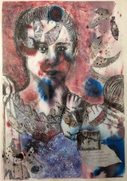 Mixed Media Painting by Toni Stritzke titled Cambodian Mother