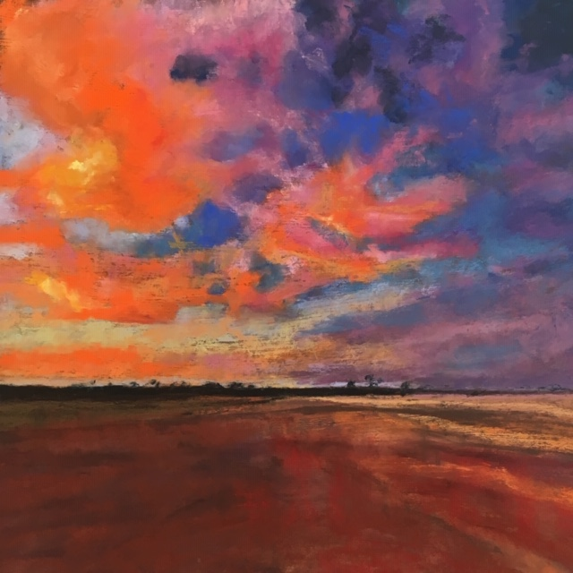 Pastel Painting by Janette Humble titled Outback Skies