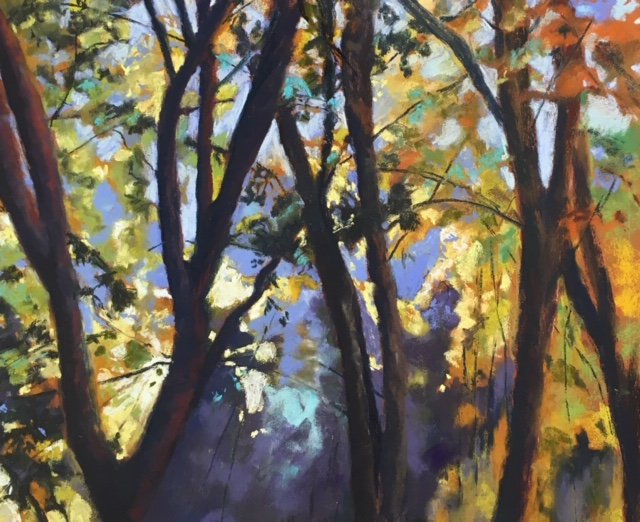 Pastel Painting by Janette Humble titled Dappled