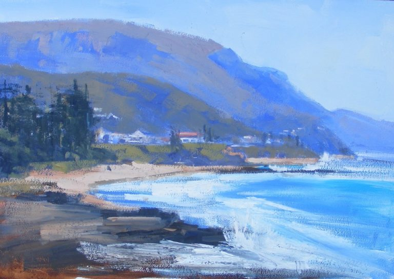 Oil Painting by Trish Bennett titled In the Morning Light Austinmer