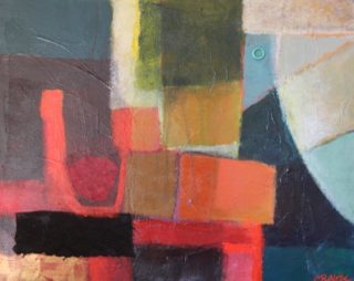 A Mixed Media painting by Marian Alexopoulos in the Abstract style  and titled Black Border