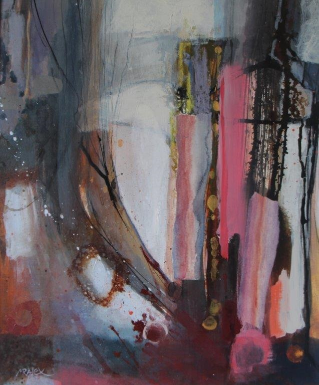 Mixed Media Painting by Marian Alexopoulos titled Flinders Track