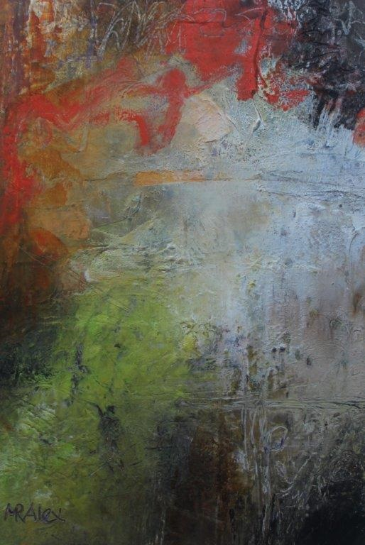 Mixed Media Painting by Marian Alexopoulos titled Losing It