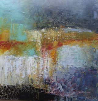 A Mixed Media painting by Marian Alexopoulos in the Abstract style  and titled It is Written