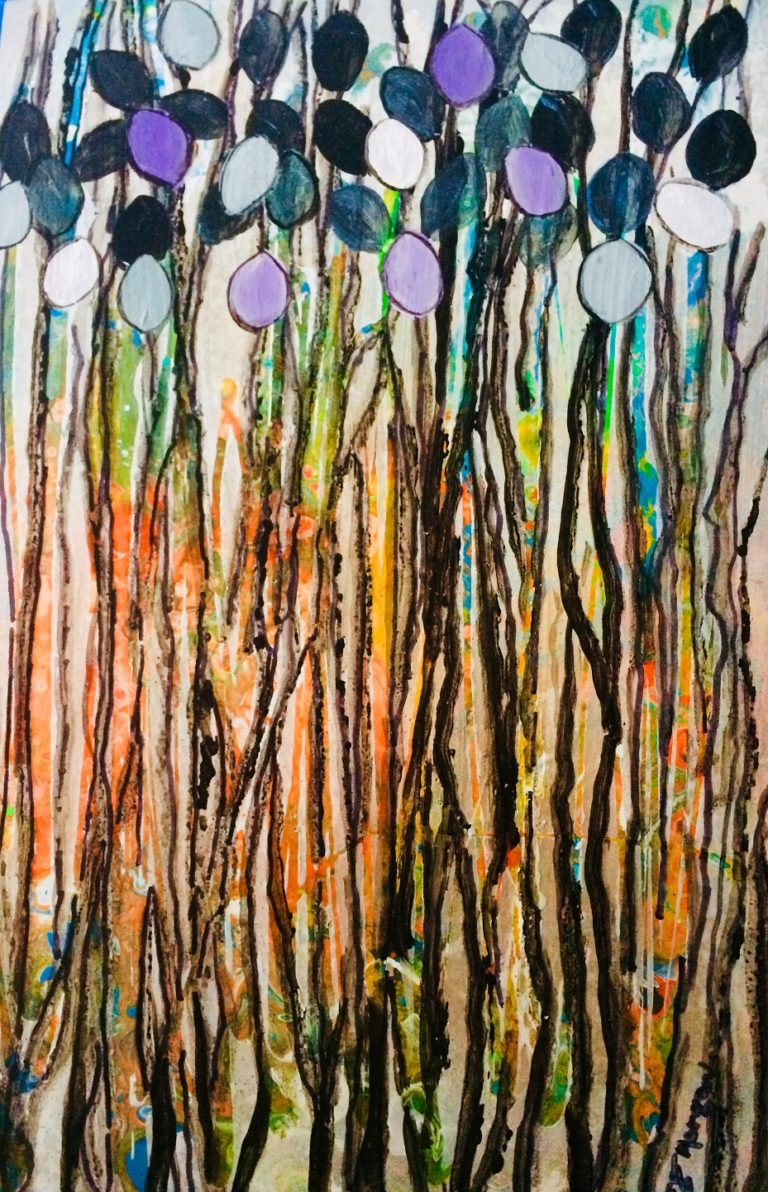 Watercolour Painting by Margaret Morgan Watkins titled Through the Forest