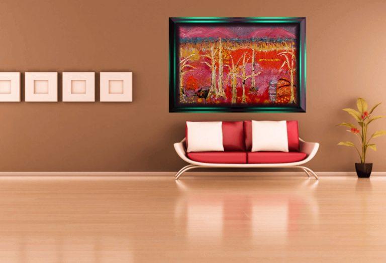 Oil Painting by Angela ILIADIS titled Burnt Australian Landscape