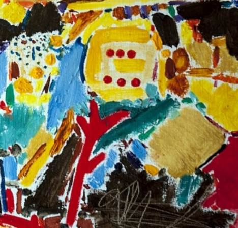 Mixed Media Painting by Angela Iliadis titled A Symphony of Colour