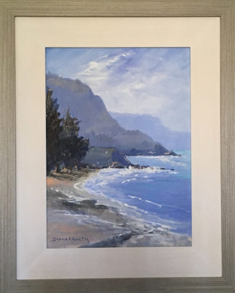 Oil Painting by Diana Garth titled Hazy Day at Austinmer