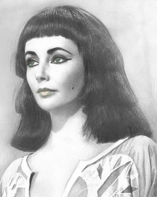 A Pencil painting by Lilly Antoneavic in the Realist style  depicting Portrait Woman with main colour being Grey and titled Cleopatra
