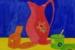 Angela Iliadis-Pink Floral Jug-bb581bf0
