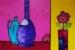 Angela Iliadis-Purple and Blue Bottles-b3da0b9b