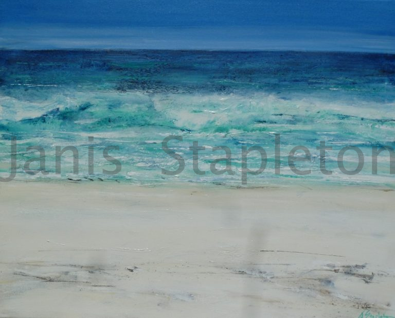 Acrylic Painting by Janis Stapleton titled Blue Day