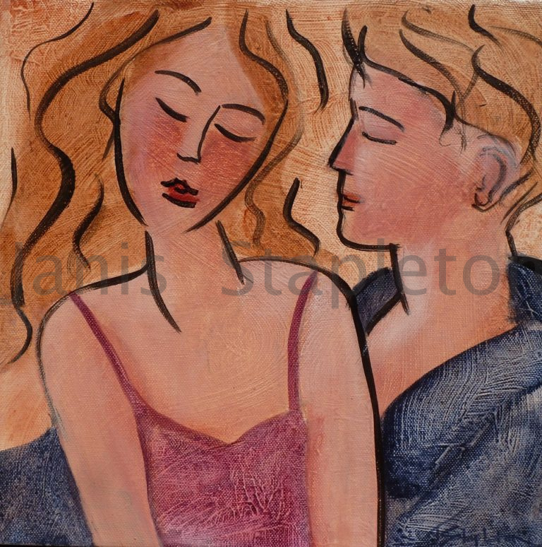 Acrylic Painting by Janis Stapleton titled Lovers II