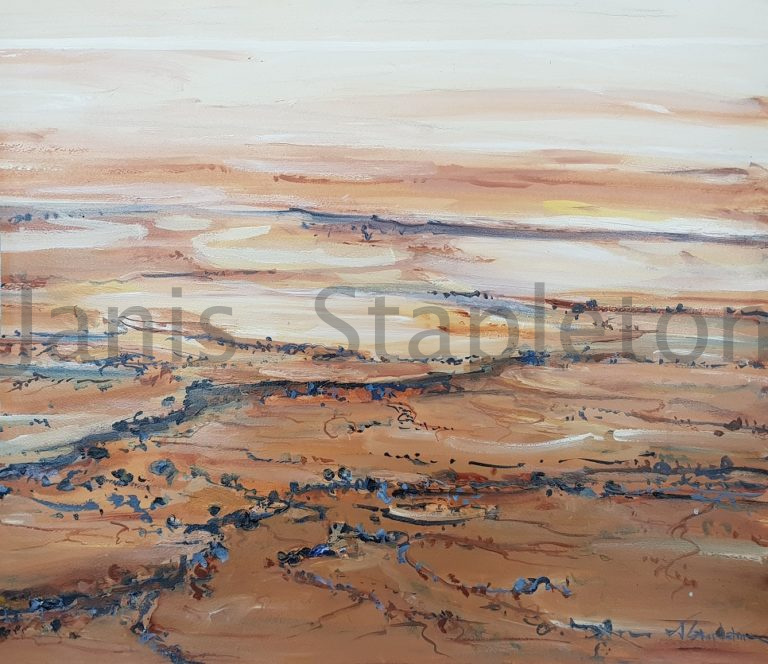 Acrylic Painting by Janis Stapleton titled Lake Eyre Study