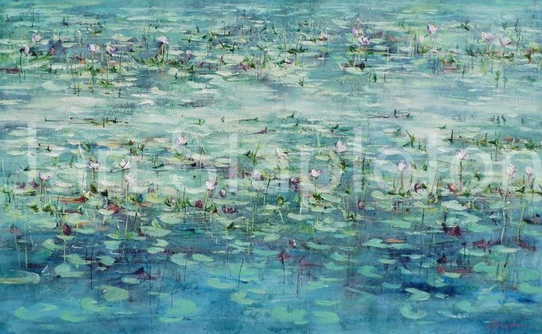 Acrylic Painting by Janis Stapleton titled Kimberley Lilies in the Light